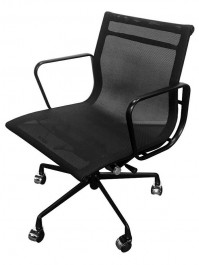 Krzesło biurowe z niskim oparciem z siatki Body Prestige