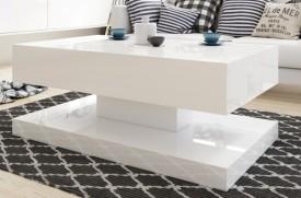 Stolik w wysokim połysku Gemin 100x60 biały