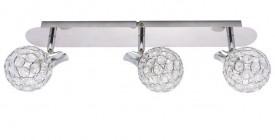 Potrójna lampa sufitowa z ozdobnymi kryształkami Elia