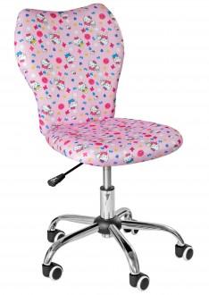 Dziewczęce krzesło obrotowe na kółkach Eli