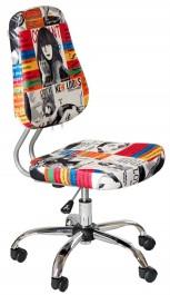 Młodzieżowe krzesło obrotowe bez podłokietników Jimmy