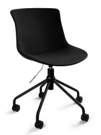 Obrotowe krzesło biurowe tapicerowane tkaniną Easy R