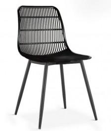 Krzesło kawiarniane z niskim oparciem ze wzorem siatki Basket
