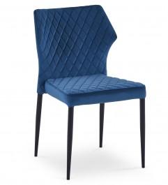 Pikowane krzesło z tkaniny aksamitnej K331