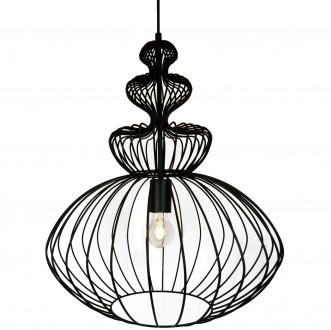 Metalowa lampa wisząca z drucianym kloszem Verto D44