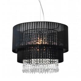 Lampa wisząca z materiałowym kloszem i kryształkami Leta 45