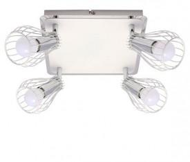 Biała lampa sufitowa z drucianymi kloszami Oscar 4