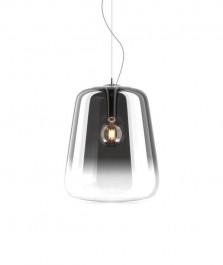 Cieniowana lampa wisząca ze szklanym kloszem Vidro 45