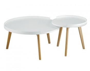 Zestaw dwóch stolików w stylu skandynawskim Banco