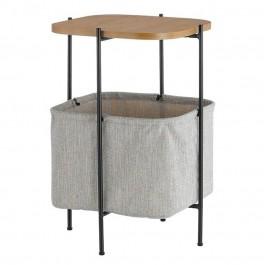 Nowoczesny stolik pomocniczy z płóciennym koszem Borsa