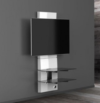 Panel ścienny na TV z półkami MELICONI GD3000