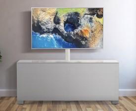 Szafka RTV z frontem z tkaniny akustycznej MyTV Stand 12040F
