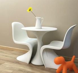 Designerski stół z tworzywa na jednej nodze Krokus