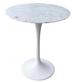 Designerski stolik z marmurowym blatem Tulip Marable Mini