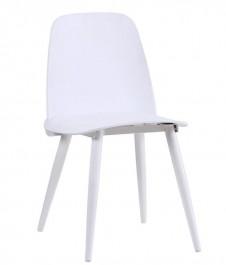 Białe krzesło do kawiarni bez podłokietników Boomer