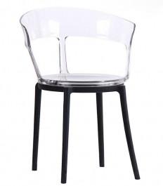 Designerskie krzesło z transparentnym siedziskiem Ero