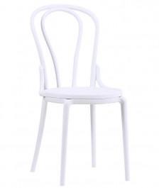 Krzesło z tworzywa z wysokim oparciem Toni