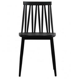 Krzesło z oparciem z tworzywa na metalowych nogach Trak
