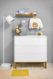 Biała komoda dziecięca z 3 szufladami Toteme