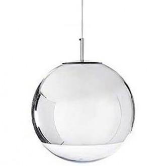 Lampa wisząca z okrągłym kloszem ze szkła Reflex Up 35