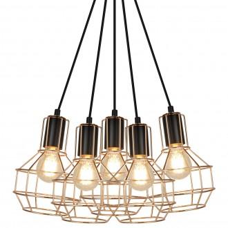 Industrialna lampa wisząca z drucianymi kloszami Giulio