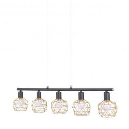 Designerska lampa wisząca z drucianymi kloszami Martin 5