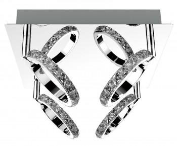 Designerski plafon sufitowy z kryształkami Toledo 4