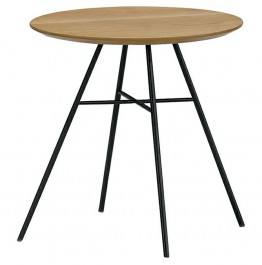 Stolik pomocniczy na metalowych nogach w stylu loft Filo