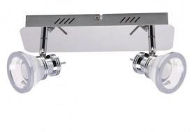 Chromowany plafon sufitowy z regulowanymi reflektorkami Moli 2