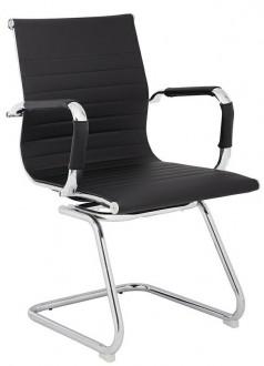 Krzesło konferencyjne na chromowanych płozach Ergo Squid