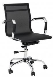 Obrotowe krzesło biurowe z niskim oparciem z siatki Ergo