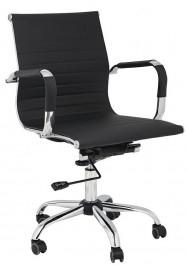 Obrotowe krzesło biurowe z niskim oparciem z ekoskóry Ergo
