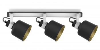 Metalowa lampa sufitowa z trzema reflektorkami Redon 3