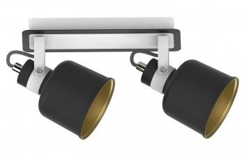 Metalowa lampa sufitowa z dwoma reflektorkami Redon 2