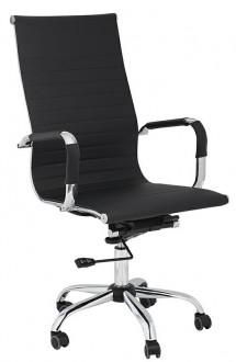Obrotowe krzesło biurowe z wysokim oparciem z ekoskóry Profil