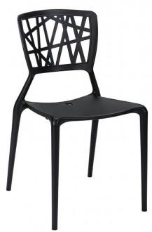 Kawiarniane krzesło z ażurowym oparciem z tworzywa Vind