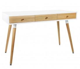 Skandynawskie biurko z trzema szufladami Arone