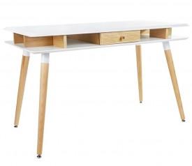 Skandynawskie biurko z szufladą i przegrodami pod blatem Modus
