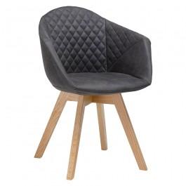 Krzesło z kubełkowym siedziskiem pikowanym Franky