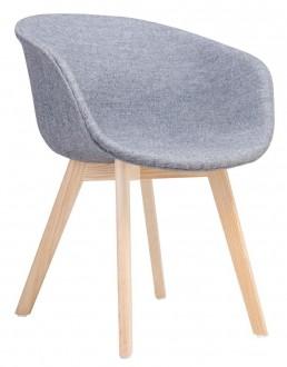 Jadalniane krzesło tapicerowane na bukowych nogach Stay Soft
