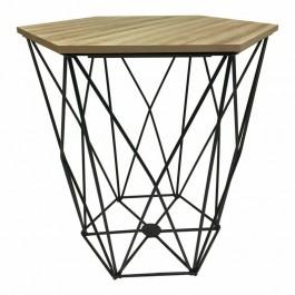 Sześciokątny stolik pomocniczy ze schowkiem Diamond