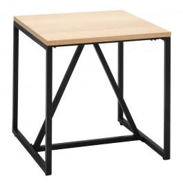 Fornirowany stolik kawowy w stylu industrialnym Hex