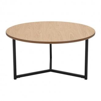 Fornirowany stolik kawowy z okrągłym blatem Rhonda Grande