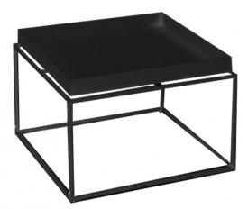 Stolik na płozach z blatem w kształcie tacy Ritta XXL