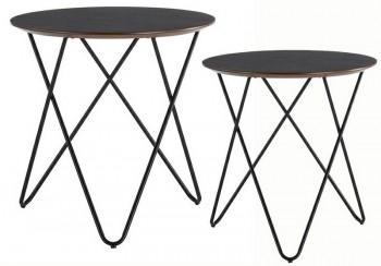 Zestaw designerskich stolików na nogach z giętego metalu Taking