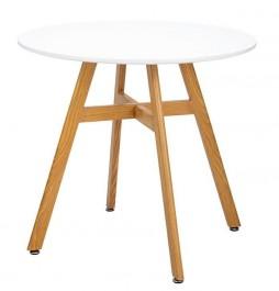 Stół w stylu skandynawskim z okrągłym blatem Flat 80