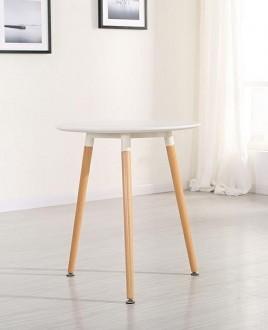 Stół na trzech nogach w stylu skandynawskim Nolan 60