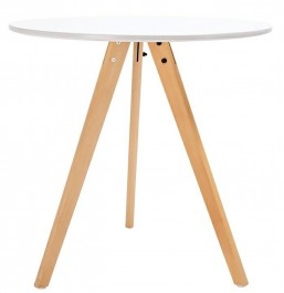 Skandynawski stół na trzech bukowych nogach Tripod 80