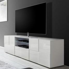 Duża szafka RTV w połysku Solo 2D1S biały