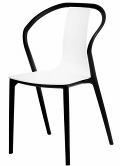 Krzesło do kawiarni z siedziskiem z tworzywa Bella